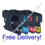 2 Sets Compatible Brother LC38 Ink Cartridges - High Yield