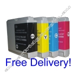 A Set Compatible Brother LC57 Ink Cartridges - High Yield