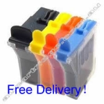 A Set Compatible Brother LC21 Ink Cartridges - BK/C/M/Y